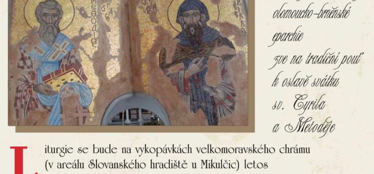 Pozvánka na cyrilometodějskou pouť do Mikulčic k oslavě svátku sv. Cyrila a Metoděje